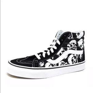 Vans sk8-hi reissue skulls black sneaker shoes